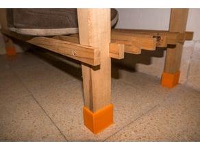 Shoe rack legs extension