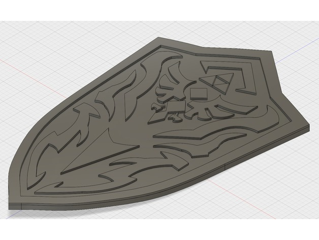 BotW Royal Guard's Shield by Screwyluie - Thingiverse