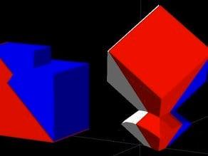 Rubik's Cube, colored