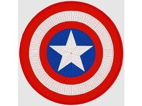 Captain America Embroidery Design - Applique - Machine Embroidery