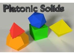 Platonic Solids | Tetrahedron Cube Octahedron Dodecahedron Icosahedron