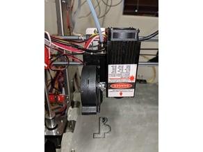 Single Fan and Laser mount