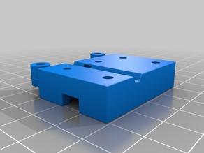 Duet Laser Filament Detector Artemis EZRstruder Mount w/ Round Edges (Radius)