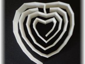 heart labyrinth, labyrinthine small (place)mat