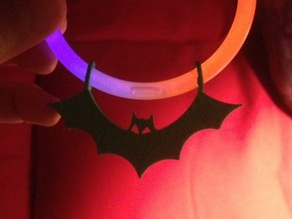 Bat Charm for Glowstick Bracelets