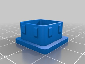 End cap / Foot for 19mm Square Tubing with 16mm inside measure