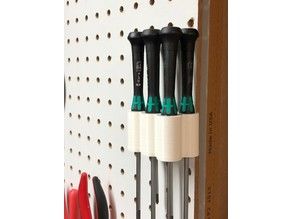 Wera Jewelers Screwdriver Pegboard Holder
