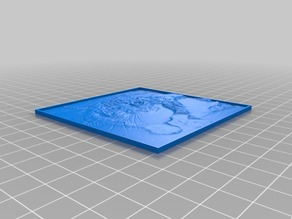 Customizable Lithophane (parametrized length and thickness)
