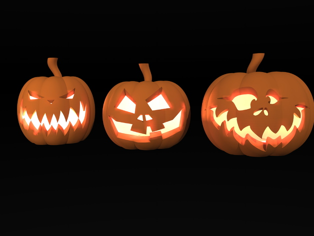 Halloween Pumpkins by fabricke - Thingiverse