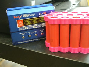 My Customized Parametric cylindrical battery pack holder