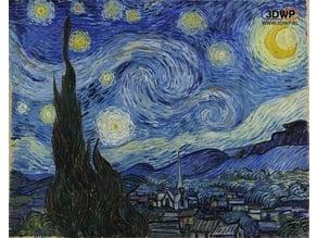 Vincent van Gogh - Starry Night Lithophane
