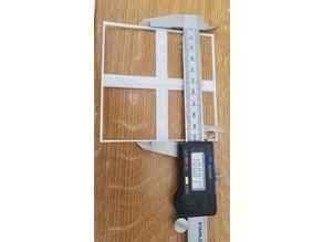 XYZ calibration test 100x100mm