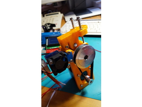 E3Dv6 mount on Cyborg belted Extruder flexible capable