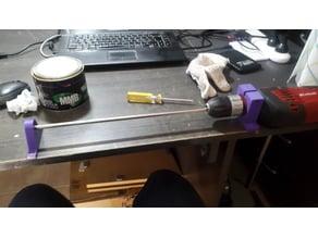 Soporte taladro para pulir guias lineales