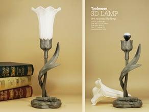 art nouveau lily lamp 2