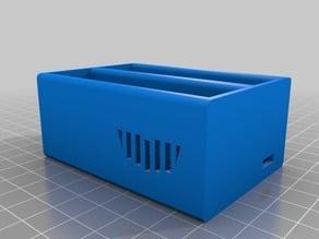 Li‑ion 18650 dual charger case