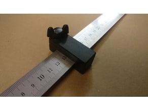 Ruler stop for steel ruler / Linealanschlag für Stahlmaßstab (25mm)