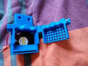 Dual E3D bowden coldend. With one (50mm) fan to rule/cool them all!