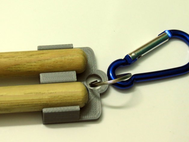 Stickey A Drumsticks Keychain By Microstrat Thingiverse