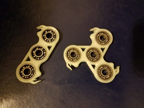 Flamed and Filleted Fidget Spinner Set (EDC) *Updated*