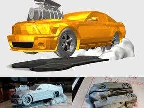 Mustang CARtoon mash-up