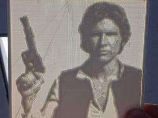 Han Solo Lithopane