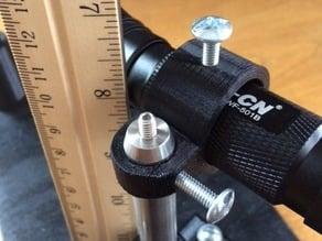 Right-angle optical post bracket