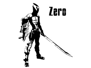 Zero the Assassin stencil