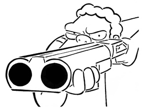 Image result for 12ga shotgun cartoon
