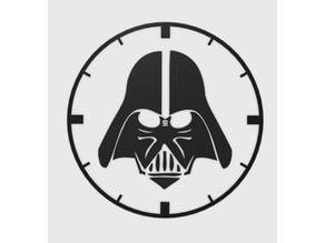 Darth Vader Clock Lasercut