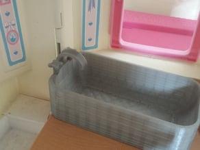 150mm long dolls bath