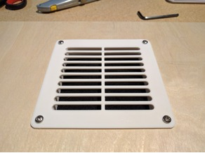 Customizable Enclosure Intake Vent for use with Carbon Filter