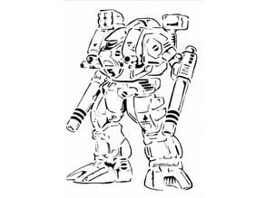Robo Tech stencil