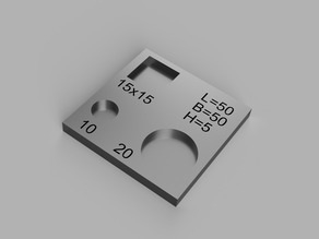 Calibration plate small