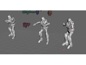 Robotech Zentraedi Lt Combat Armor Team  2 (3 units)