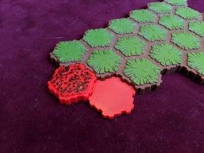 Heroscape Textured Lava Tile