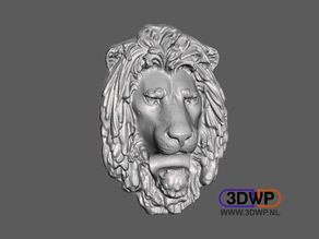 Lion Head Wall Hanger (Sculpture 3D Scan)