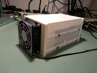 harddrive enclosure with 80mm fan mount