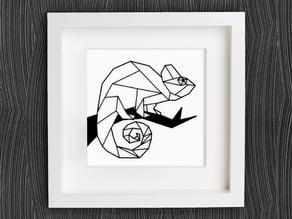 Customizable Origami Chameleon