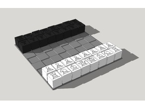 Chess 20mm hollow calibration cubes