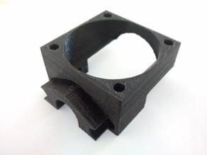 E3D v5 hotend mount with 40mm fan for K8200 / 3Drag