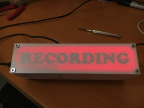 "WIFI Enabled ""Recording"" Sign"