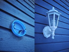Exterior light fixture round wall mount