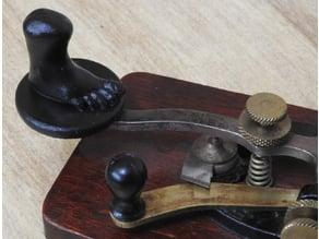 J38 straight key knob based on Monty Python foot