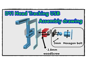 DIY head tracking USB  ball joint  in 123dx