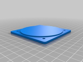 Aircraft instrument panel hole cover blanks
