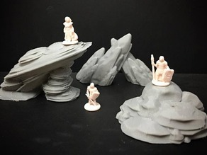 Rock Formations (15mm/18mm/28mm scale)
