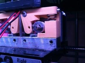 Reinforced minimal MK8 w/ soft-PLA printing spur