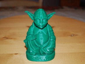 Improved Yoda Buddha w/ Lightsaber