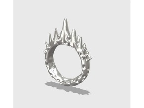 Abstract Spike Ring Size 10